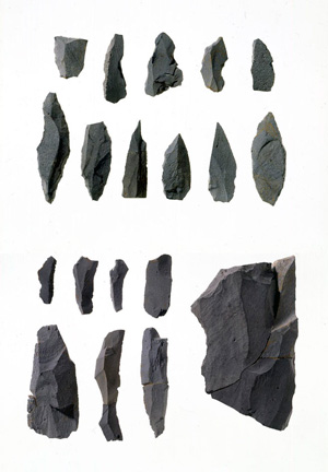 Palaeolithic stone artifacts of 28,000 years ago